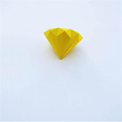 Paper Origami Diamond Diamonds Papel Blckdmnds Diamantes
