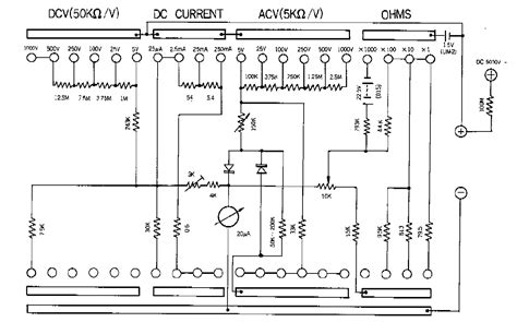 electro help sanwa 320 x analogue multimeter schematic diagram click on diagram to zoom in