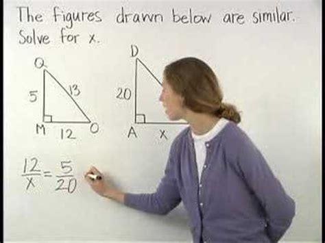similar triangles mathhelpcom geometry  youtube