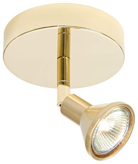 contemporary lichtstar dual brass canopy spotlight