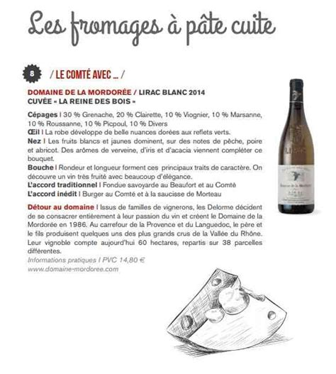 accords vins lirac blancs fromages