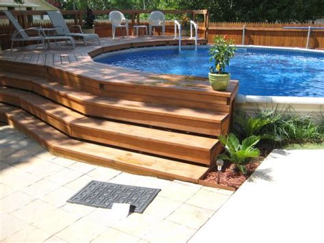 Above Ground Swimming Pools Decks Ideas by 17 Best Ideas About Above Ground Swimming Pools On