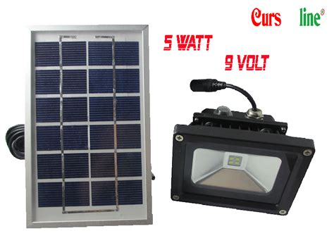 flood light rechargeable with solar panel 5w cursonline