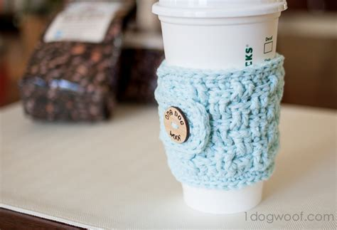 Basketweave Cup Cozy Crochet Pattern With