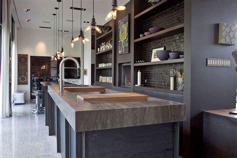 meuble de cuisine industriel cuisine style design industriel idéal pour loft ou grande