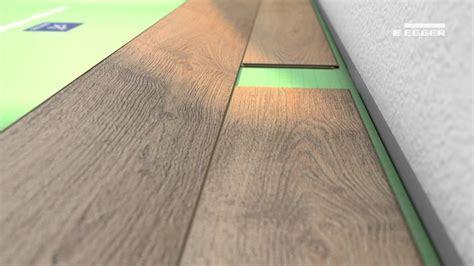 Installation of EGGER laminate flooring with JUST clic