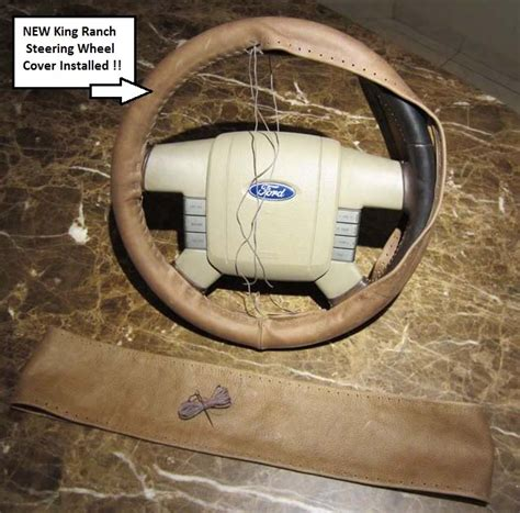 ford   king ranch  piece leather steering