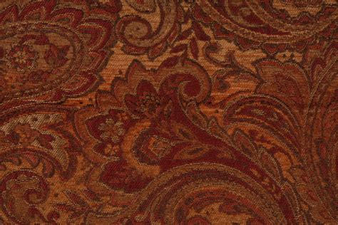 Mckenna Chenille Tapestry Upholstery Fabric In Topaz