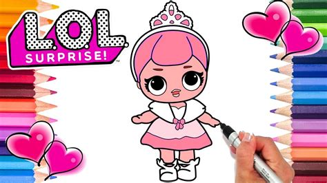 lol dolls crystal queen coloring page lol dolls coloring