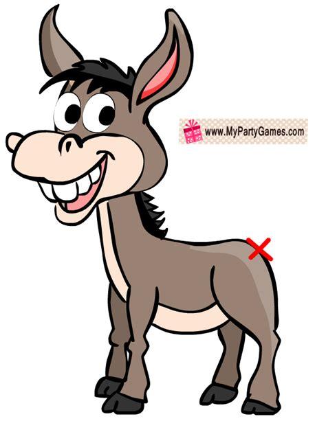 pin  tail  donkey game  printable