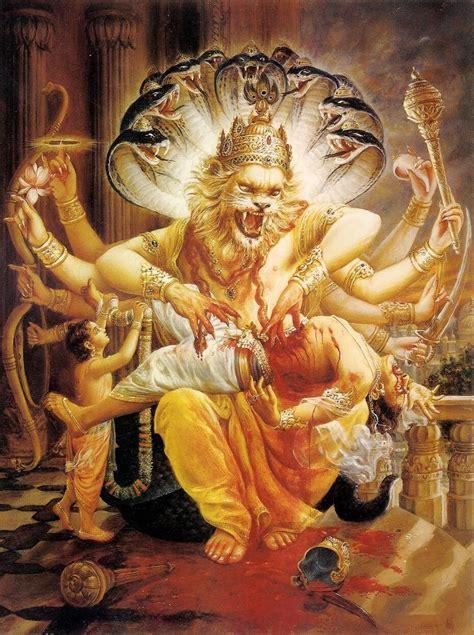 lord narasimha   fourth incarnation  lord vishnu
