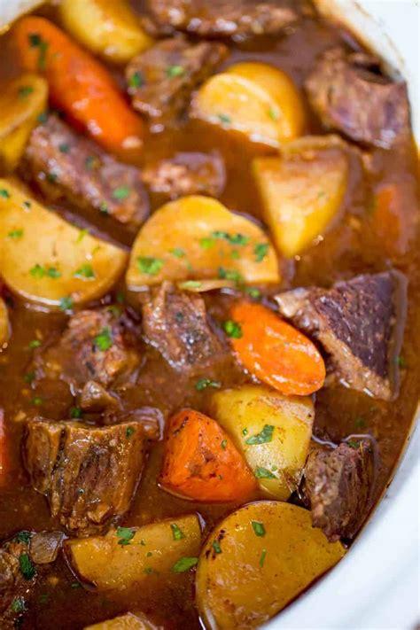 ultimate slow cooker beef stew dinner  dessert