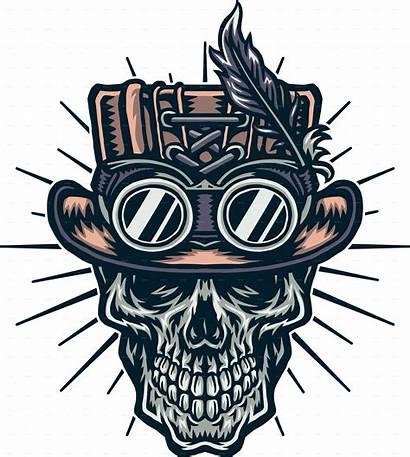Skull Steampunk Hat Wearing