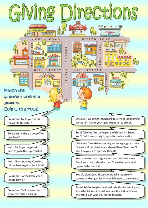 giving directions interactive worksheet