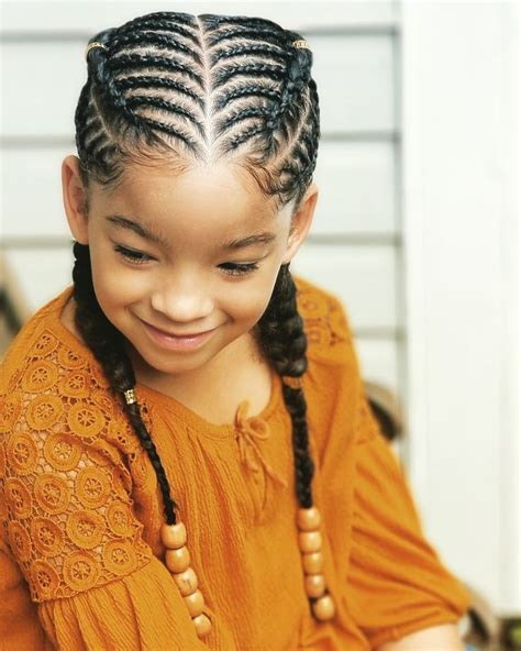 Kid Hairstyles by Kid Cornrows Kid Hairstyles Braidsbyteshia Instagram