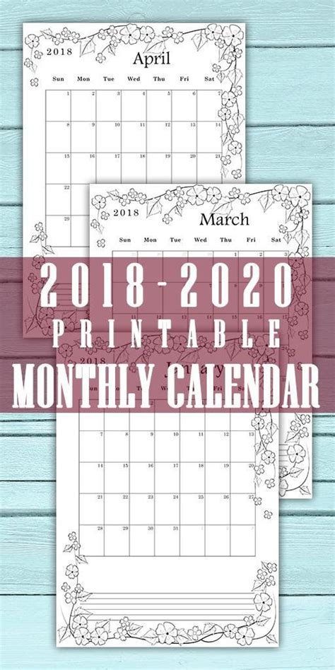 monthly coloring calendar month page