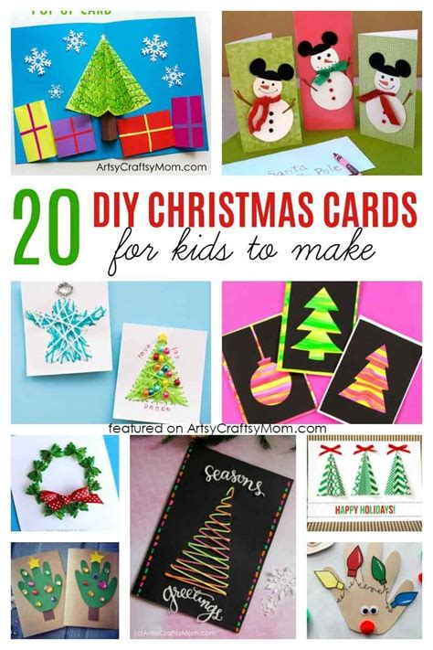 simple  sweet diy christmas card ideas  kids