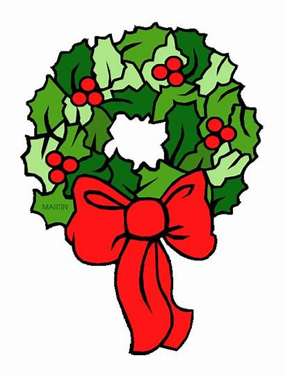 Wreath Christmas Clip Clipart Wreaths Cartoon Cliparts
