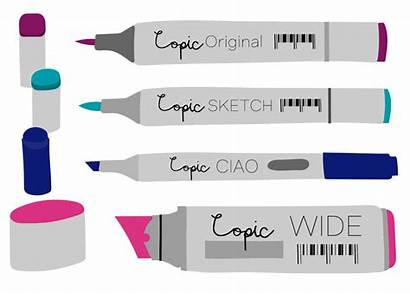 Copic Markers Types Different Creative Sketch