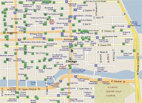 28 map of chicago attractions map of chicago tourist