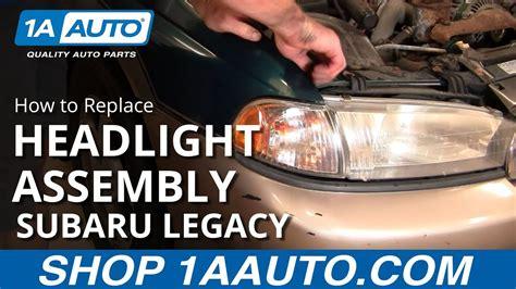 replace change headlight  bulb subaru legacy