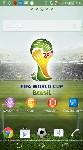 sony xperia world cup theme available at play store