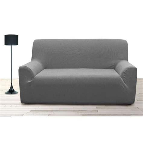 housse de canapé gris housse de canapé 3 places stretch gris achat