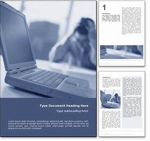 royalty free computer crash microsoft word template in blue With best laptop for word documents