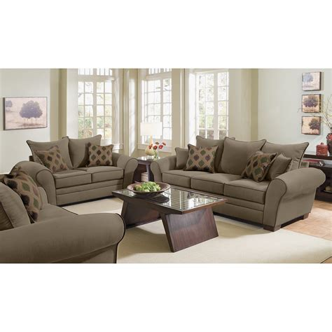 rendezvous sofa  loveseat set olive  city