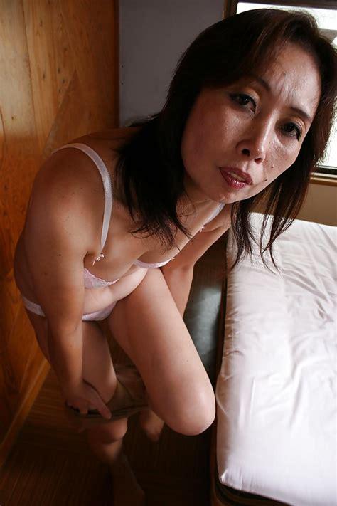 Lewd Asian Granny Masae Funakoshi Stripping And Playing