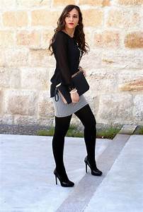 25+ best ideas about Black Stockings Outfit on Pinterest   Winter dress outfits Sexy outfits ...