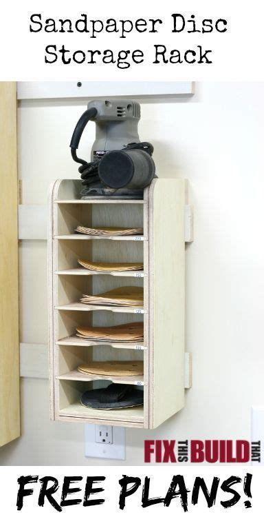 sandpaper disc storage rack easy woodworking projects
