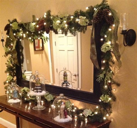 christmas mirror garland christmas garlands mirrors