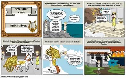 Comic Strip Phaethon Storyboard