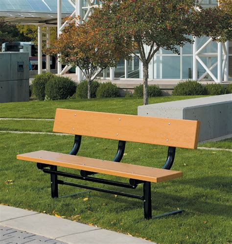 Traditional Benches by Traditional Recycled Plastic Park Bench
