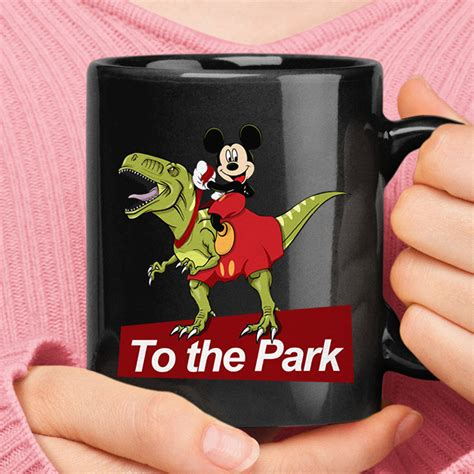 View reviews, menu, contact, location, and more for dinosaur coffee silver lake was set up by ben hantoot, one of the founders of cards against. Mickey Mouse Riding T-Rex Dinosaur To The Park Mug ...
