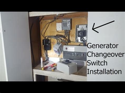 generator changeover switch installation and test