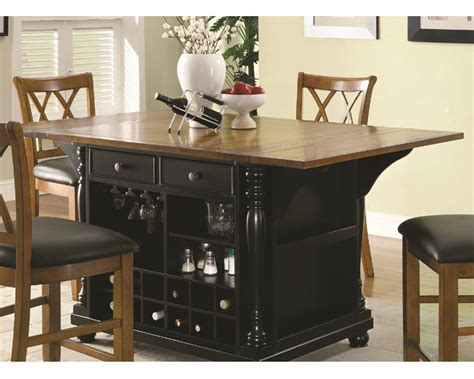 counter height kitchen island dining table coaster two tone kitchen island kitchen carts co 102270 71 9487