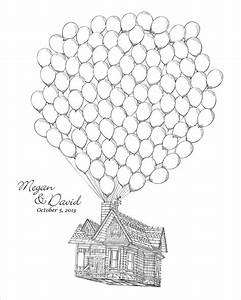 Up House Balloons Coloring Pages