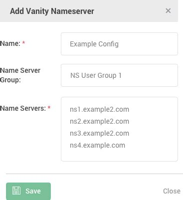 vanity name servers rest api secondary dns more features constellix