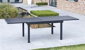 Table De Salon Extensible : table de jardin extensible en solde salon jardin en teck ~ Teatrodelosmanantiales.com Idées de Décoration