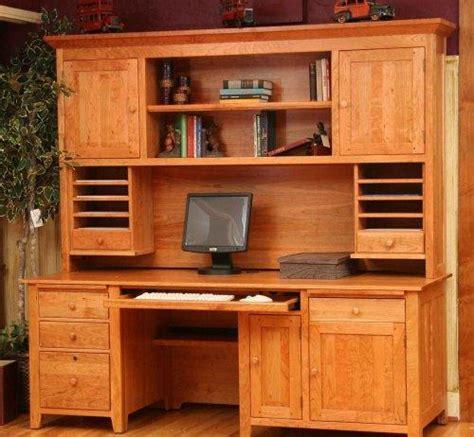 build  wooden desk hutch plans diy