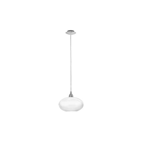 eglo lighting 87059 brenda 1 light white ceiling pendant