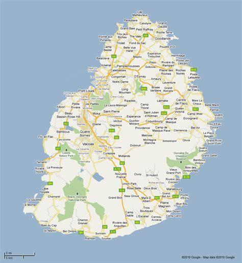 bureau appartement carte routière de l 39 île maurice vacances maurice