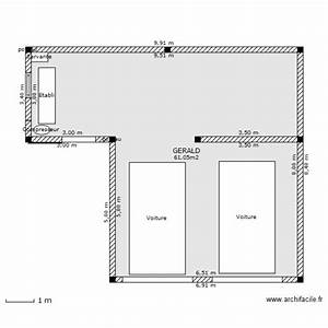 garage double atelier plan 1 piece 61 m2 dessine par With plan de garage gratuit