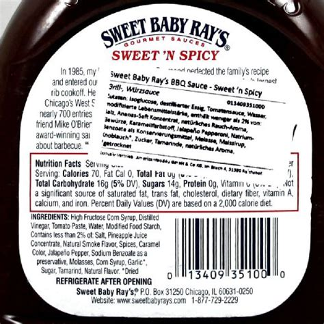sweet baby rays sweet  spicy barbeque sauce