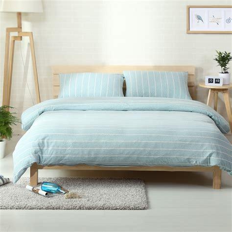 4pcs 100% Cotton Jersey Knitted Bedding Sets Light Aqua