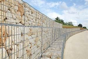 Mur De Soutenement En Gabion : prix de pose d 39 un mur en gabion tarif co t dimension ~ Melissatoandfro.com Idées de Décoration