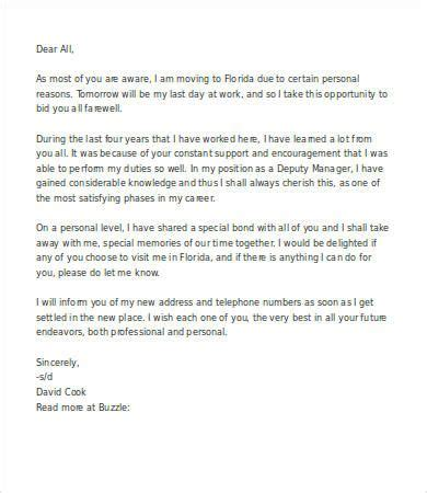 farewell letter  colleagues professional tips