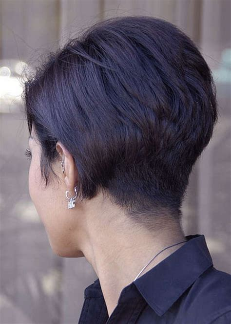 short stacked hairstyles  women
